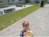 Зверский аппетит после прогулки  - Крохин Кирилл, 2 года