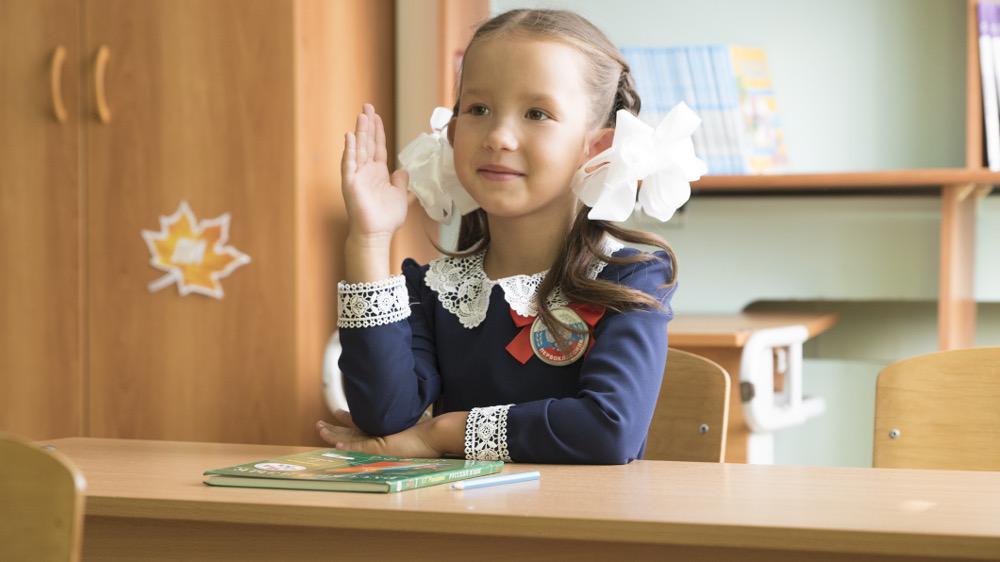 Первый урок (Виктория Данилова, 6 лет)